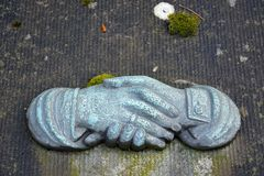 Handshake sculpture Stock Images