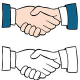Handshake Set Royalty Free Stock Photo