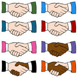 Handshake Set Stock Photography