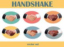 Handshake set Stock Photo