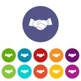 Handshake set icons Stock Images