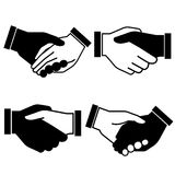 Handshake. Set of 4 handshake symbols on white background Royalty Free Stock Images