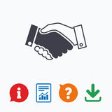 Handshake sign icon. Successful business symbol Royalty Free Stock Image