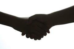 Handshake Silhouette Stock Photo