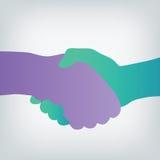 Handshake silhouette Stock Image