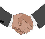 Handshake situation. Color illustration of the gesture hand handshake situation Royalty Free Stock Images