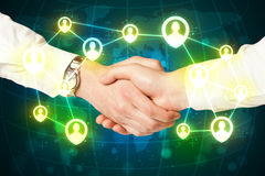 Handshake, social netwok concept Royalty Free Stock Photo