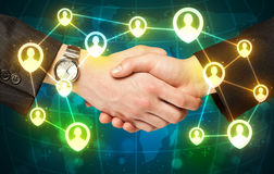 Handshake, social netwok concept Royalty Free Stock Images