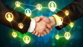 Handshake, social netwok concept Royalty Free Stock Photos