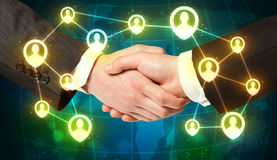 Handshake, social netwok concept Royalty Free Stock Photography