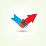 Handshake stylized symbol Stock Images
