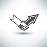Handshake stylized symbol Stock Image
