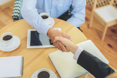 Handshake after successful business deal Stock Photos