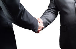 Handshake, Successful businessmen shaking hands, isolated on white background Stock Images