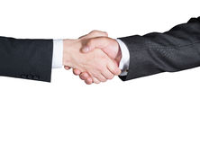 Handshake, Successful businessmen shaking hands, isolated on white background Stock Photo