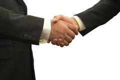 Handshake, Successful businessmen shaking hands, isolated on white background Royalty Free Stock Images