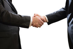 Handshake, Successful businessmen shaking hands, isolated on white background Royalty Free Stock Photo