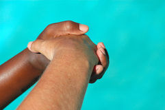 Handshake support royalty free stock photos