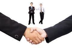Handshake and teamwork. Businessman  handshake and teamwork concept Stock Image