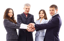Handshake and teamwork Stock Photos