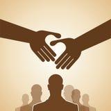 Handshake, Teamwork Hands Logo. Vector illustration. Royalty Free Stock Images