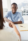 Handshake to seal a deal after a business meeting Royalty Free Stock Images