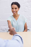 Handshake to seal a deal after a business meeting Royalty Free Stock Photography