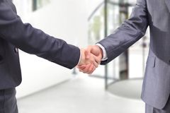 Handshake of the two Royalty Free Stock Images