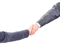 Handshake of the two Stock Image