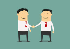 Handshake of two asian businessmen Royalty Free Stock Images