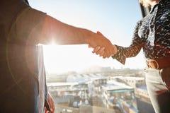 Handshake of two associates Stock Photography