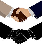 Handshake of two business men. Conclusion of the transaction and achievement of success. Congratulations colleague. Stock Photography