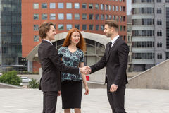 Handshake of two business men Stock Photos