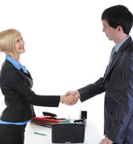 Handshake two business partners Royalty Free Stock Images