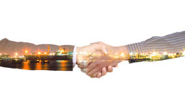 Handshake two business partners. Royalty Free Stock Image