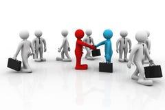 Handshake between two business people Stock Images