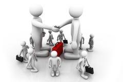 Handshake between two business people. 3d render of Handshake between two business people Royalty Free Stock Photography