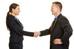 Handshake between two business people Royalty Free Stock Photos