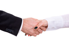 Handshake of two business people Royalty Free Stock Photos