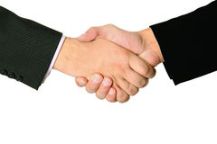 Handshake of two businessmans agreement Stock Photos