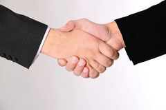 Handshake of two businessmans agreement Royalty Free Stock Photo