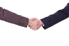 Handshake between two businessmen royalty free stock image