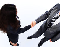 Handshake of the two businessmen Stock Photo