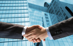 Handshake of two businessmen Royalty Free Stock Photos