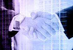 Handshake of two businessmen Stock Image