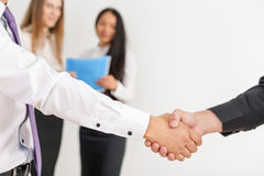 Handshake of two businessmen Royalty Free Stock Photo
