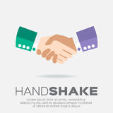 Handshake. Two businessmen making a deal. Flat design vector illustration for business and finance Stock Photo