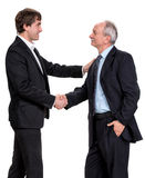 Handshake of two businessmen Royalty Free Stock Photo