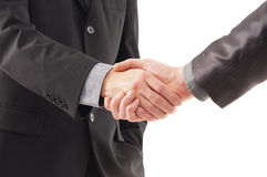 A handshake between two businesspersons Stock Photo