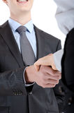 Handshake between two colleagues Royalty Free Stock Image